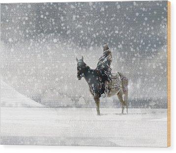 Longest Winter Wood Print by Paul Sachtleben