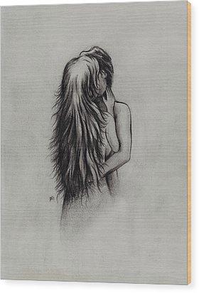 Lovers Wood Print by Rachel Christine Nowicki