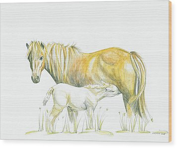 Loving Care Wood Print by Katrin J Oskarsdottir