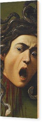 Medusa Wood Print by Caravaggio