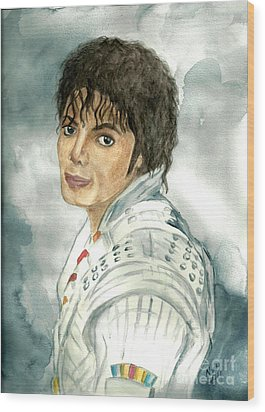 Michael Jackson - Captain Eo Wood Print by Nicole Wang
