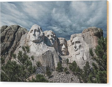 Mount Rushmore II Wood Print by Tom Mc Nemar