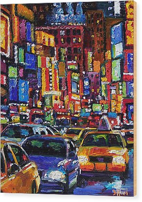 New York City Wood Print by Debra Hurd
