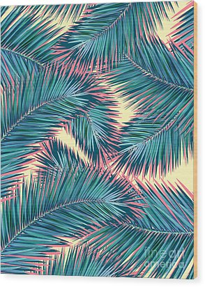 Palm Trees  Wood Print by Mark Ashkenazi