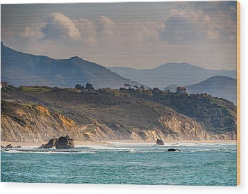 Wood Print featuring the photograph Pays Basque by Thierry Bouriat
