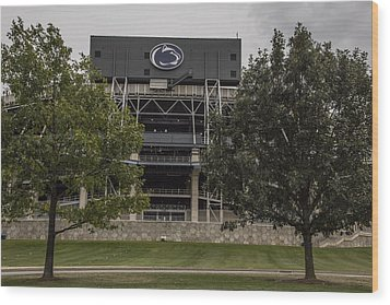Penn State Beaver Stadium  Wood Print by John McGraw