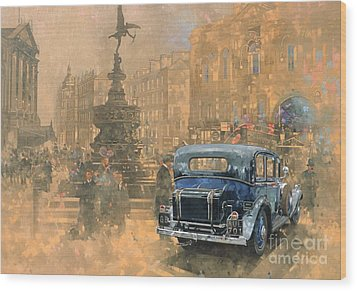 Phantom In Piccadilly  Wood Print by Peter Miller