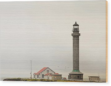 Point Arena Lighthouse Ca Wood Print by Christine Till
