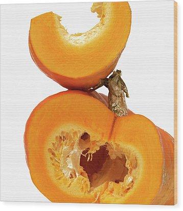 Pumpkins Wood Print by Bernard Jaubert