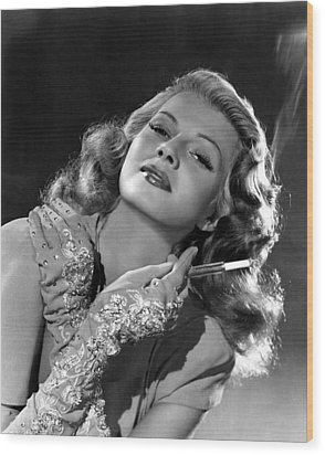 Rita Hayworth, Columbia Pictures, 1940s Wood Print by Everett