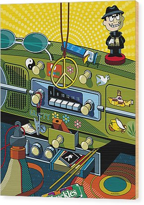 Road Trip '69 Wood Print by Ron Magnes