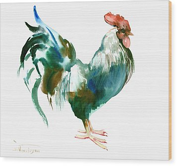 Rooster Wood Print by Suren Nersisyan
