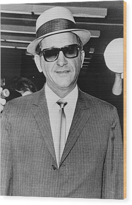Sammy Giancana 1908-1975, American Wood Print by Everett