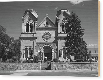 Santa Fe - Basilica Of St. Francis Of Assisi Wood Print by Frank Romeo
