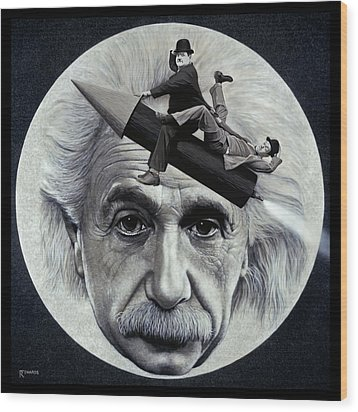 Scientific Comedy Wood Print by Ross Edwards