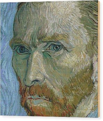 Self-portrait Wood Print by Vincent Van Gogh