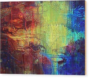 Shadows Of The Dream I Wood Print by Lolita Bronzini