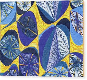 Solar Rays Wood Print by Kim Sy Ok