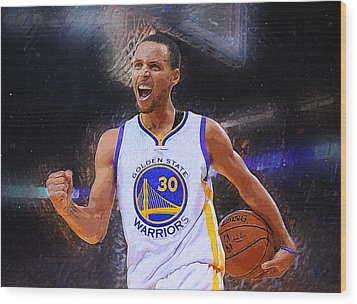 Stephen Curry Wood Print by Semih Yurdabak