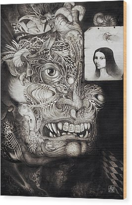 The Beast Of Babylon Wood Print by Otto Rapp