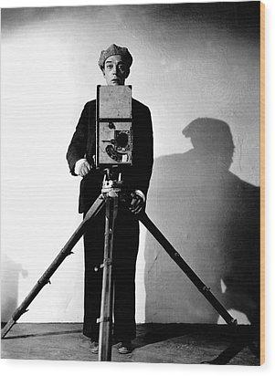 The Cameraman, Buster Keaton, 1928 Wood Print by Everett