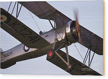 The Old Aircraft Wood Print by Angel  Tarantella