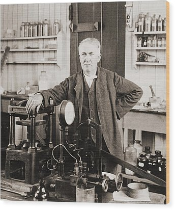 Thomas A. Edison 1847-1931, In His West Wood Print by Everett