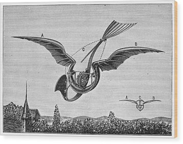TrouvÉs Ornithopter Wood Print by Granger