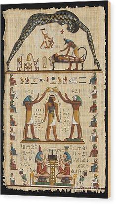 Twokupamun Papyrus Wood Print by Richard Deurer