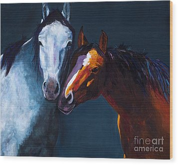 Unbridled Love Wood Print by Frances Marino
