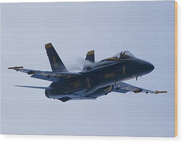 Us Navy Blue Angels High Speed Turn Wood Print by Dustin K Ryan