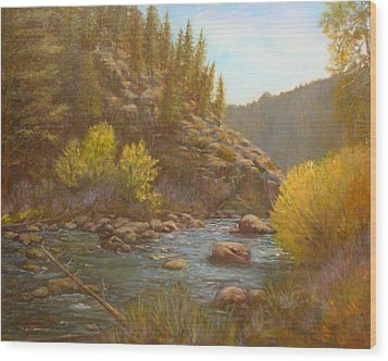 100714 2430 Serenity Wood Print by Donna Heikes