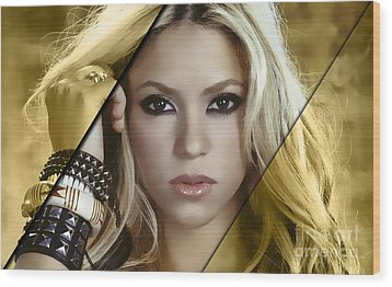 Shakira Collection Wood Print by Marvin Blaine