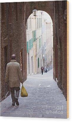 Siena Wood Print by Andre Goncalves