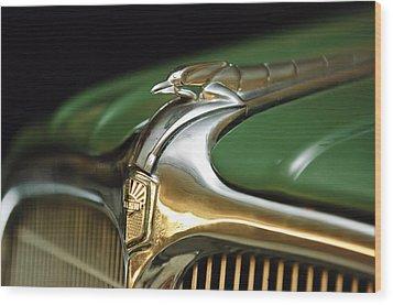 1934 Nash Ambassador 8 Hood Ornament Wood Print by Jill Reger