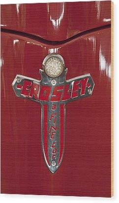 1948 Crosley Convertible Emblem Wood Print by Jill Reger