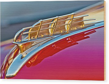 1949 Plymouth Hood Ornament Wood Print by Jill Reger