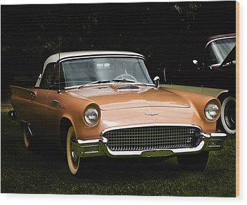 1957 Thunderbird Wood Print by Patricia Stalter