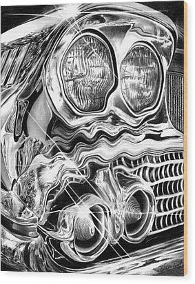 1958 Impala Beauty Within The Beast Wood Print by Peter Piatt