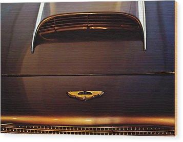 1961 Aston Martin Db4 Coupe Emblem Wood Print by Jill Reger