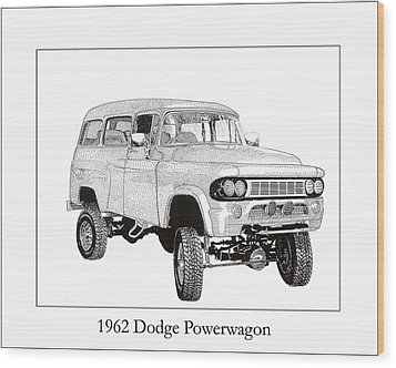 1962 Dodge Powerwagon Wood Print by Jack Pumphrey