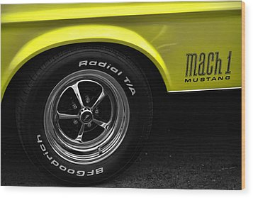 1971 Ford Mustang Mach 1 Wood Print by Gordon Dean II