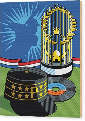 1979 Pirates Wood Print by Ron Magnes