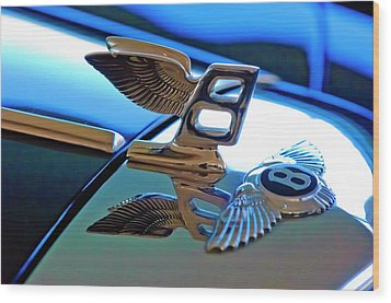 1980 Bentley Hood Ornament Wood Print by Jill Reger