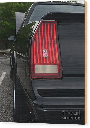 1988 Monte Carlo Ss Tail Light Wood Print by Paul Ward