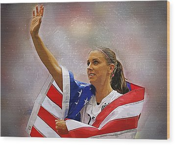 Alex Morgan Wood Print by Semih Yurdabak