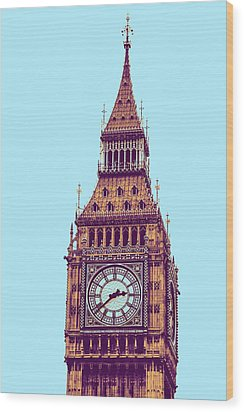 Big Ben Tower, London  Wood Print by Asar Studios