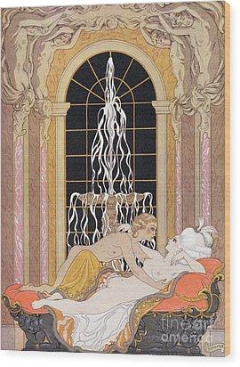 Dangerous Liaisons Wood Print by Georges Barbier