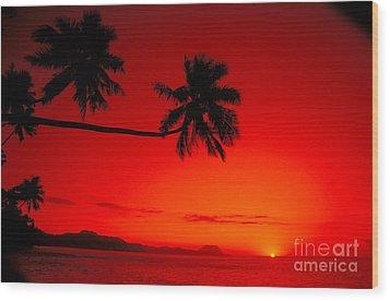 Fiji, Kadavu Island Wood Print by Ron Dahlquist - Printscapes