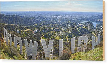 Iconic Hollywood  Wood Print by Art K